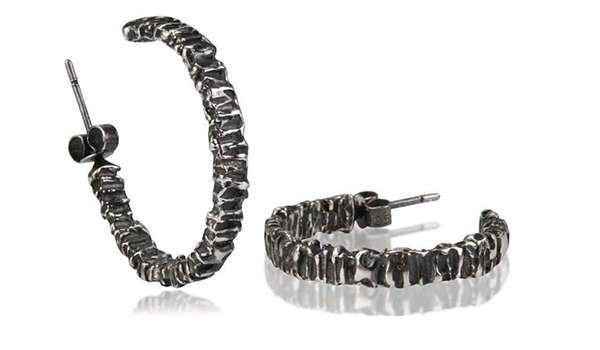 Oxidised Valiant Large Hoops - Kirsten Hendrich Jewellery