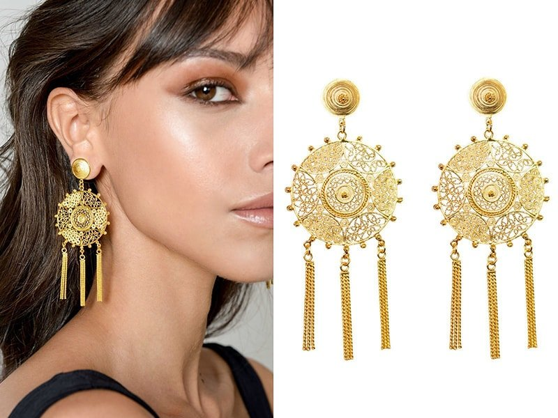Pandora Earrings Gold, Vanilo