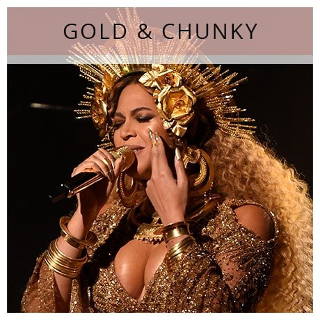Shop Beyonce Gold & Chunky Jewellery