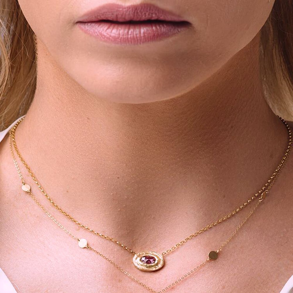 Yellow Gold Sunset Love Nugget Necklace, Gabrielle Friedman