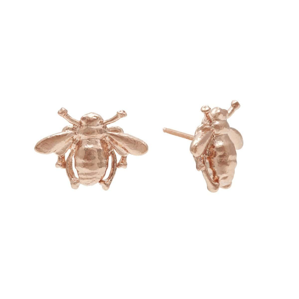 Rose Gold Bee Stud Earrings, Deborah Blyth Jewellery