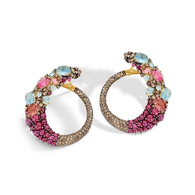 Baobab Hoop Earrings, Brumani
