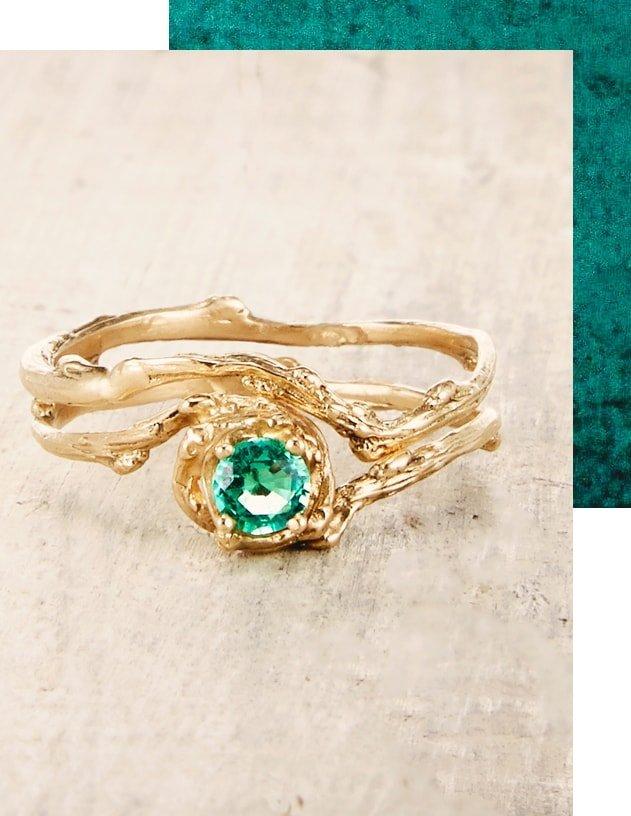 Emerald Naples Ring