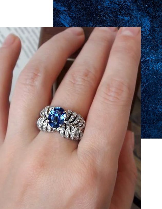 Angel Sapphire Ring, Chekotin Jewellery