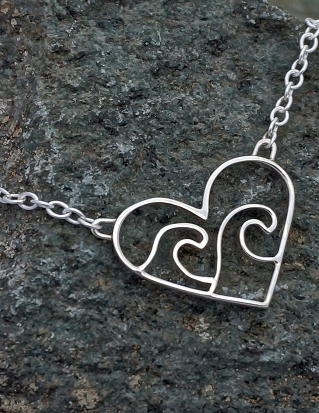 Sterling Silver Love The Ocean Necklace , Peak Jewellery