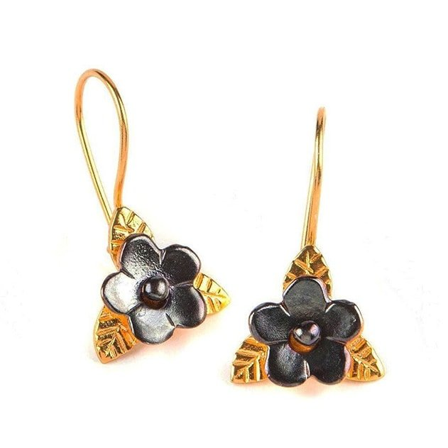 Duo Color Flower Earrings, Toosis