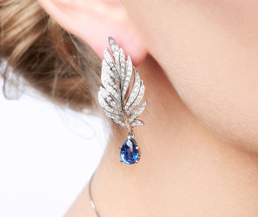 Angel Sapphire Earrings,  Chekotin Jewellery