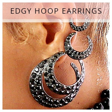 Shop Beyonce Edgy Hoop Earrings