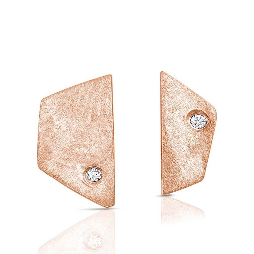 Paloma Earrings in Rose Gold, Enji Studio Jewelry