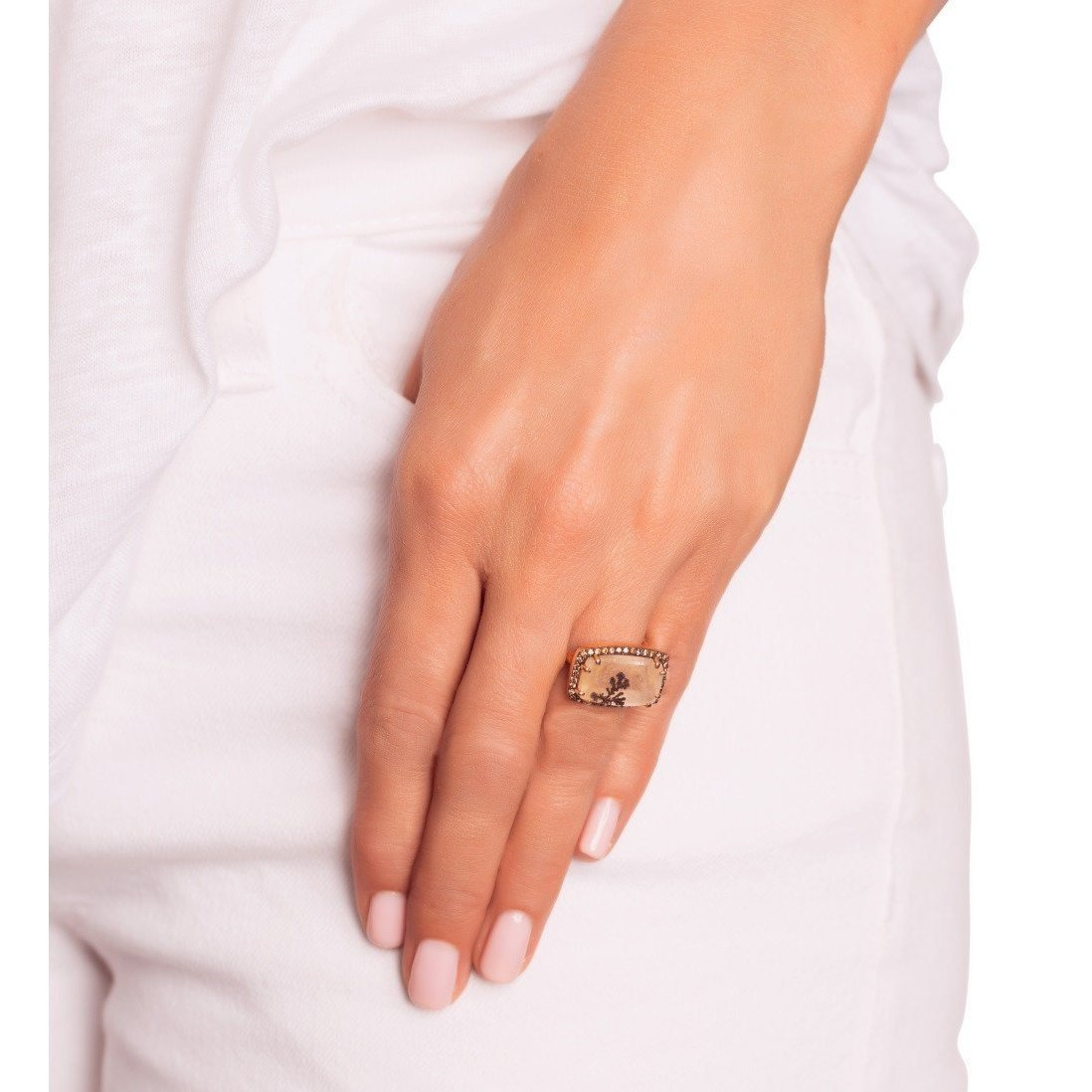 Pink Gold Dendritic Ring