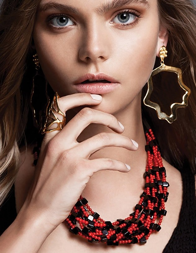 Red Coral Branch Necklace,  Plumeria Exclusive London