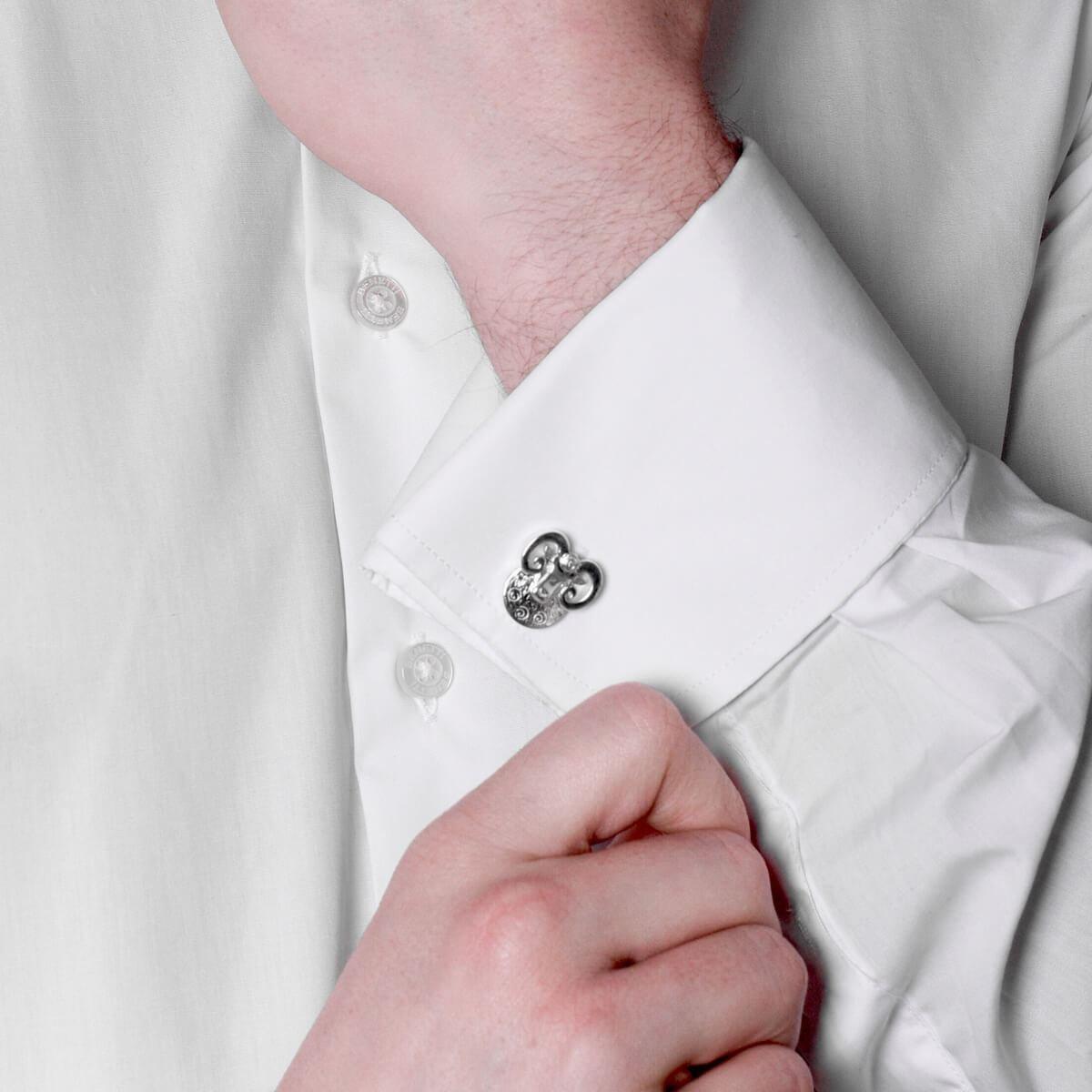 Sterling Silver Aries Ram Cufflinks, Saba Jewellery