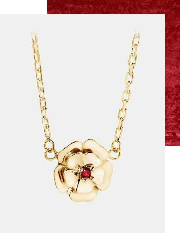 18kt Gold and Ruby Necklace