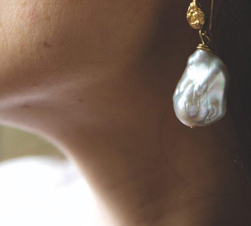 Ula Pearl Earrings, Deborah Blyth Jewellery