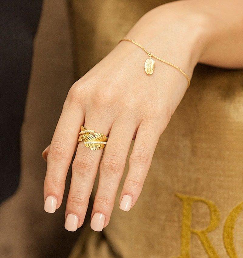 Gold Tiki Mini Diamond Bracelet,  ROX - Diamonds and Thrills