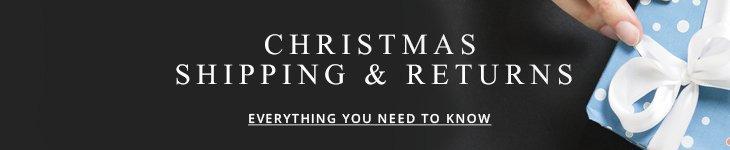 Christmas Shipping and Returns