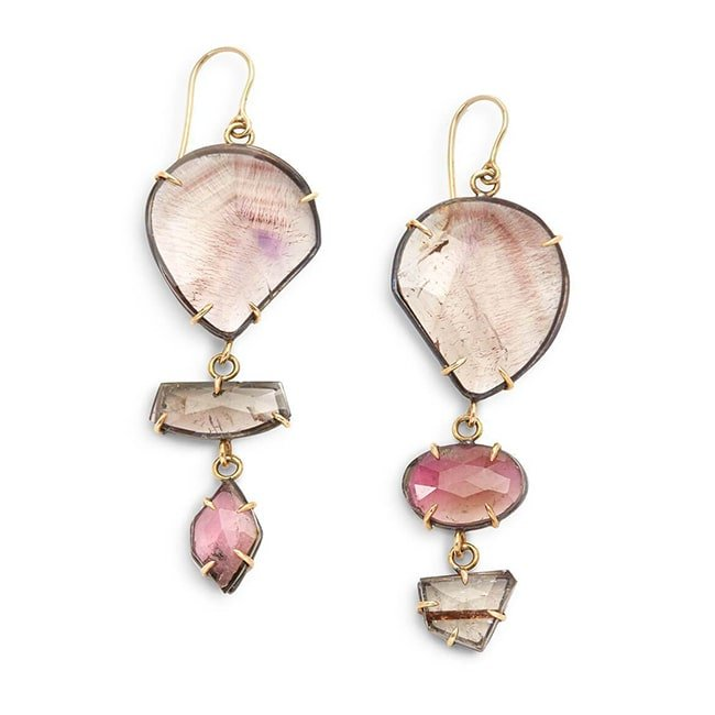 Yellow Gold Tourmaline At Sunset Earrings, Gabrielle Friedman