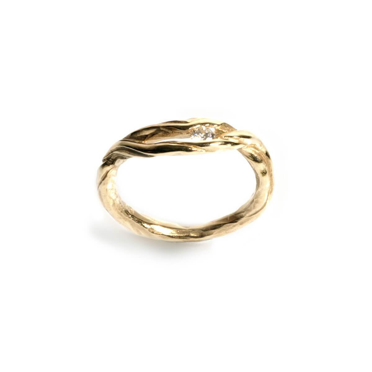 9kt Yellow Gold Driftwood Ring