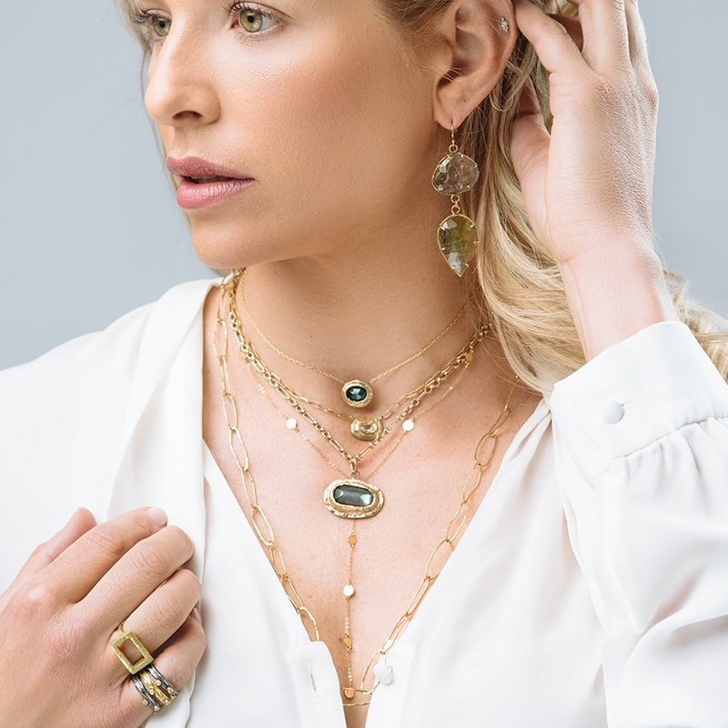 Yellow Gold Oceanic Love Nugget Necklace, Gabrielle Friedman