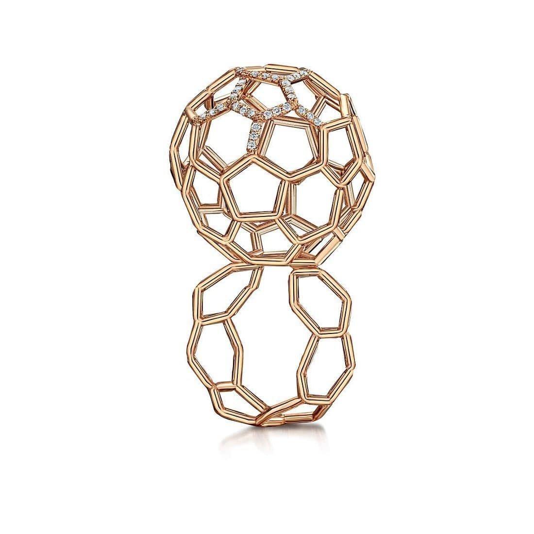 Air Sphere Diamond Rose Gold Ring