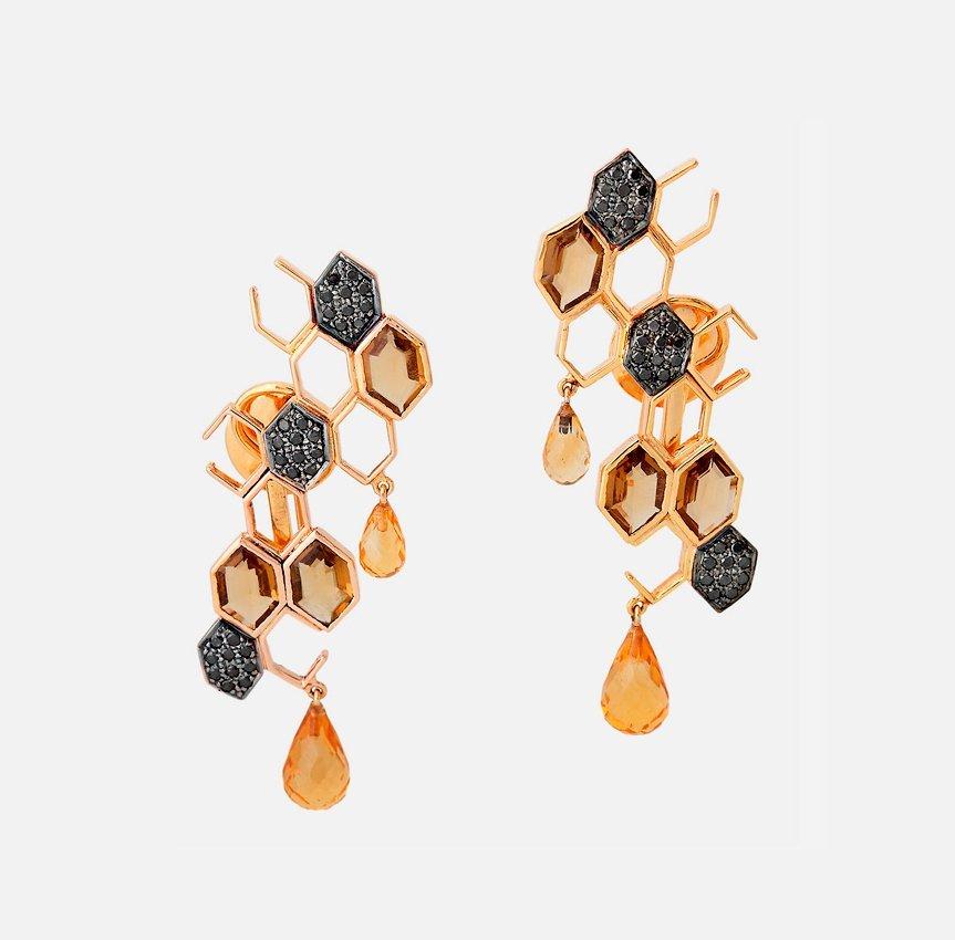 Honeycomb & Bees Jewellery