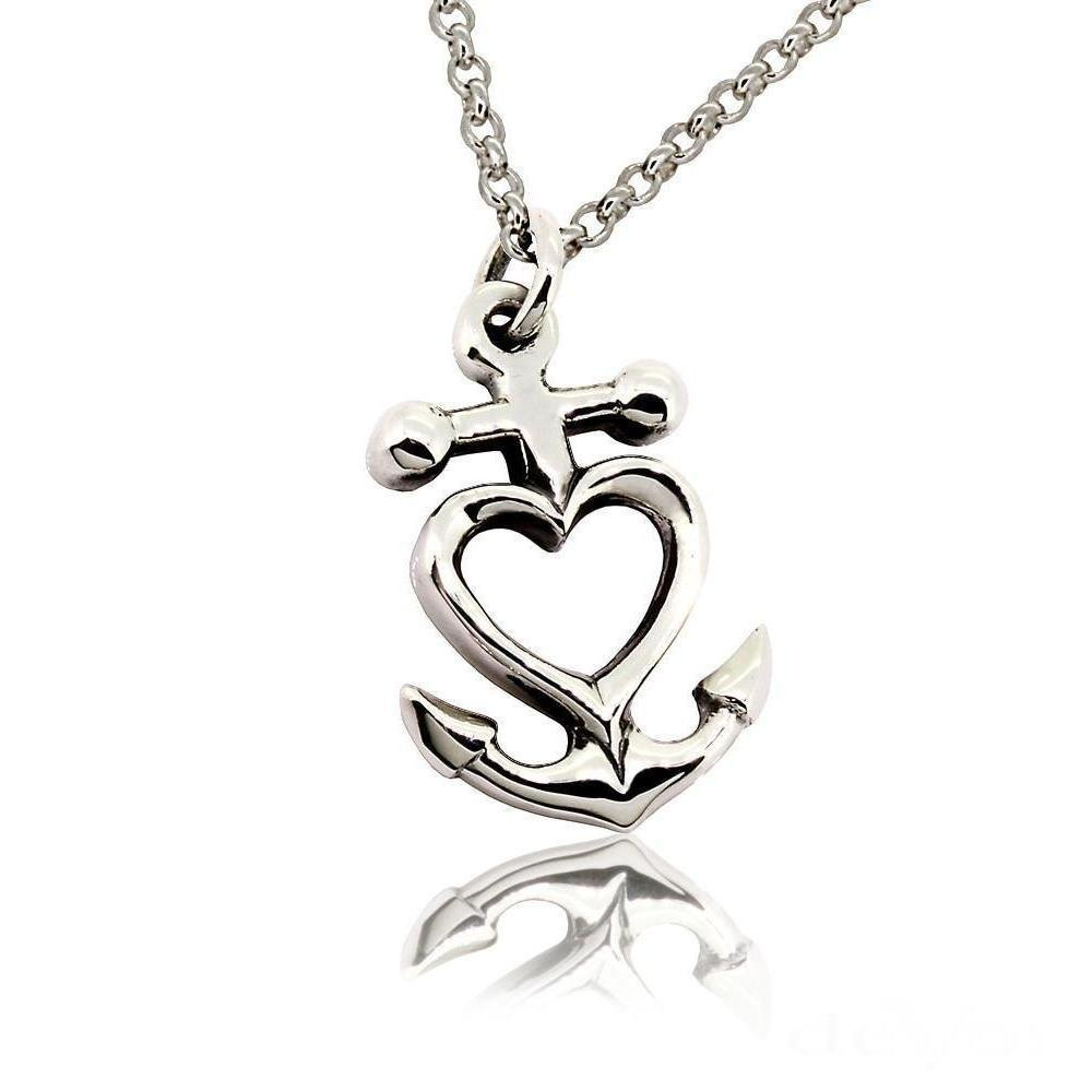Anchor Heart Pendant, deVos Jewellery