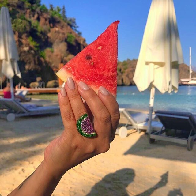 18kt Rose Gold Watermelon Ring