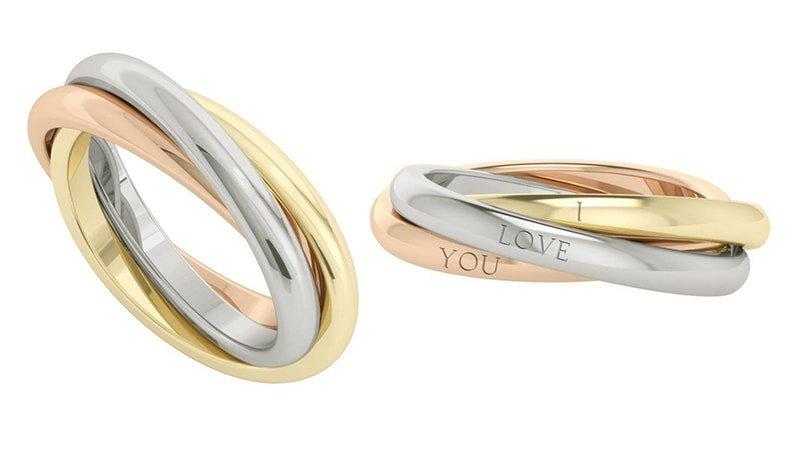 Willow Russian Rings 9kt Multi-Gold, StyleRocks