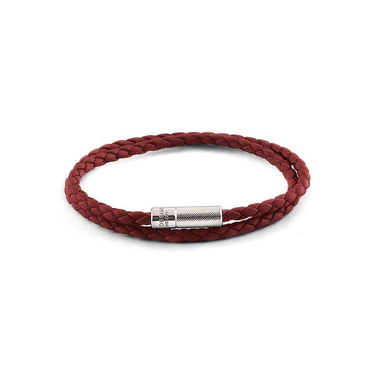 Double Wrap Pop Rigato Bracelet In Red - Tateossian