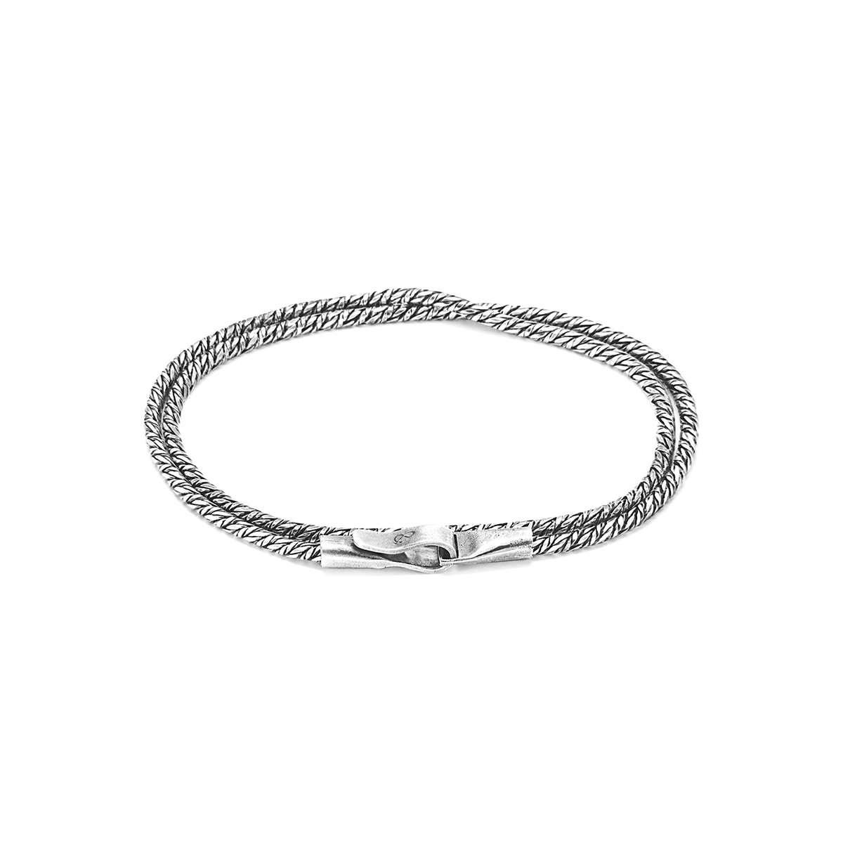 Forestay Double Sail Silver Chain Bracelet - Anchor & Crew
