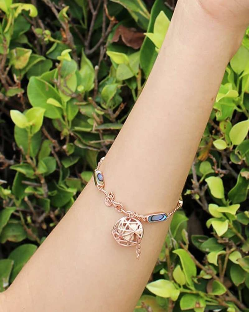 Nest Disc Bracelet With Abalone And Rose Gold, LISA HOFFMAN