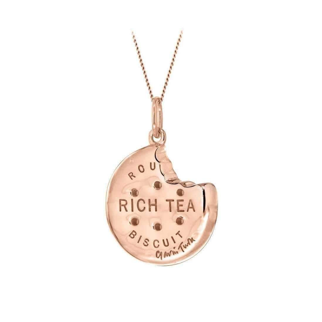 Rose Gold Rich Tea Biscuit Pendant - True Rocks
