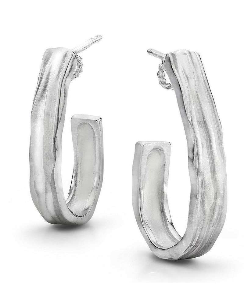Silver J Hoop Earrings, LJD Designs