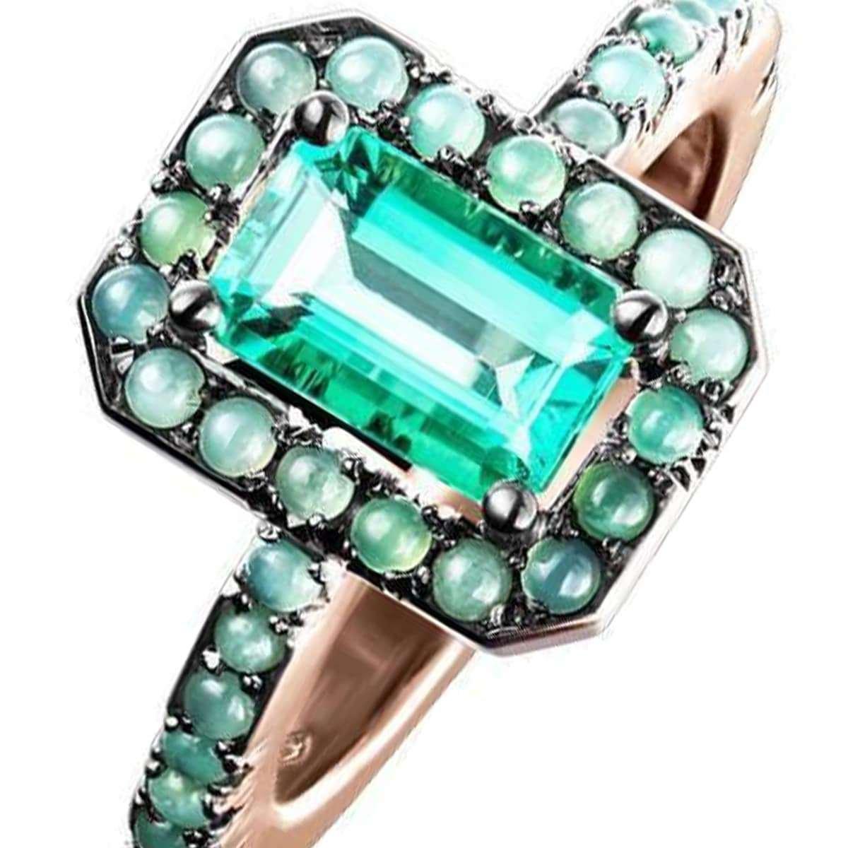 May birthstone - emerald ring