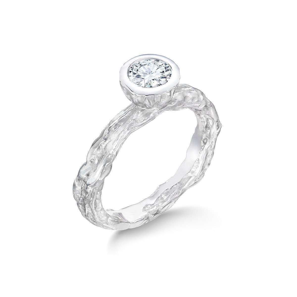 Banyan Tree Wedding-Engagement Ring White Gold - LJD Designs