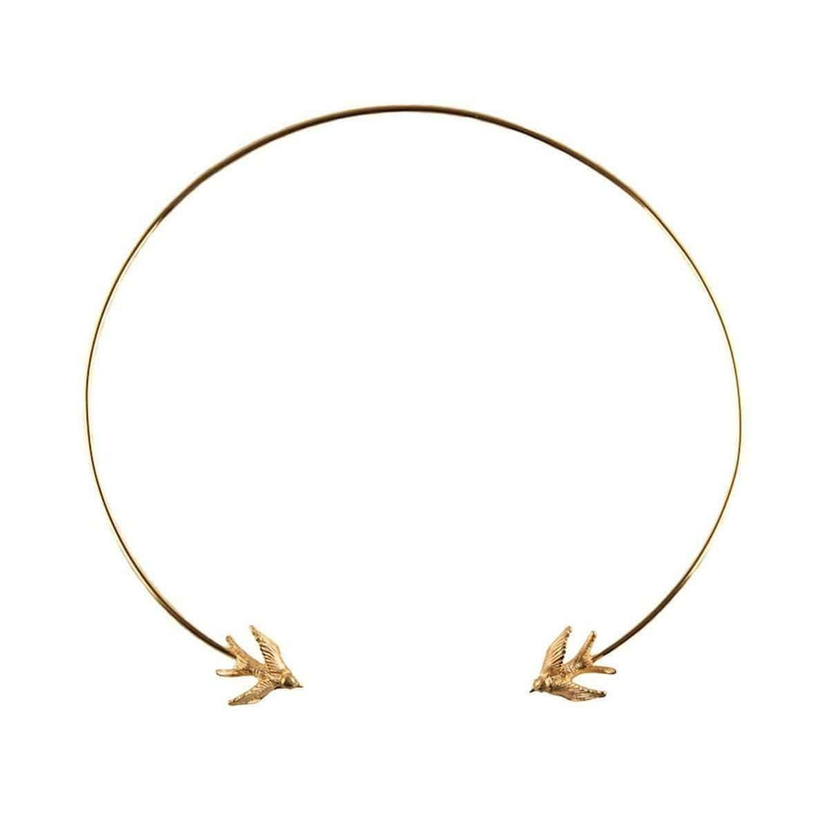 Gold Swallow Torc Necklace - Roz Buehrien