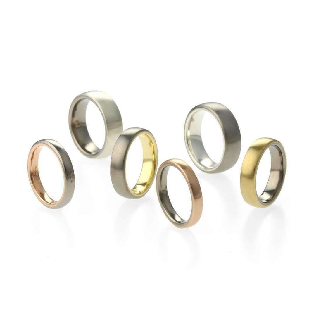 Titanium and Rose Gold Band - Prism Design