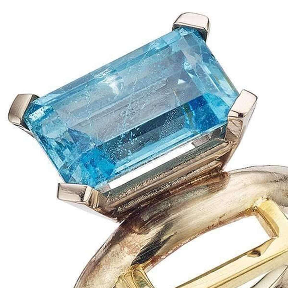 March birthstone - aquamarine ring