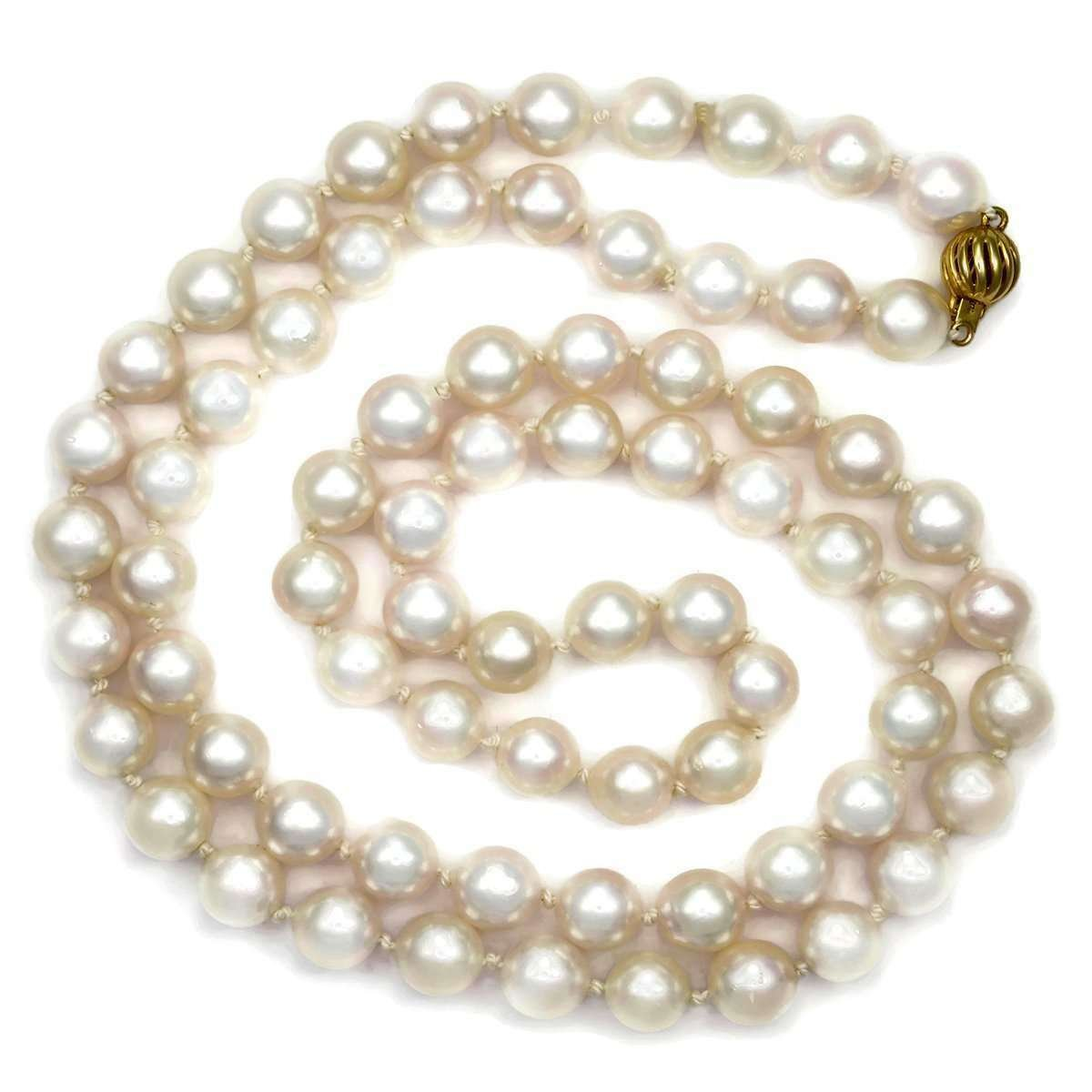 Akoya Pearl Necklace With 14kt Clasp - Donna Pizarro Designs