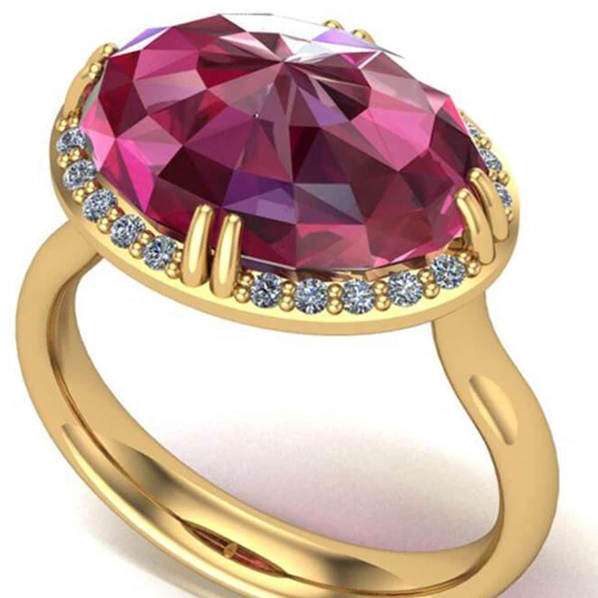 July birthstone - ruby ring