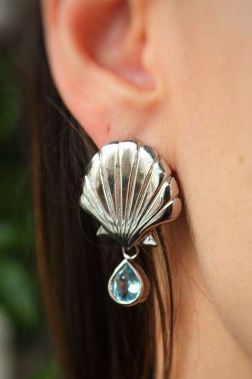 Blue Mer Earrings, Isa Bagnoli