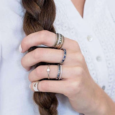 Selection of Sterling Silver Stacking Rings