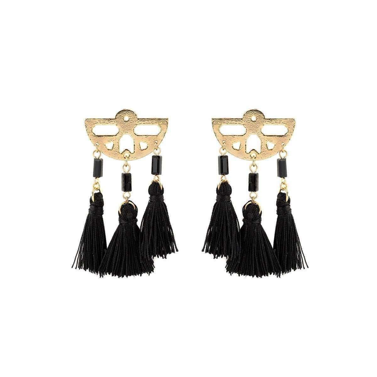 Trio Tassel Earrings