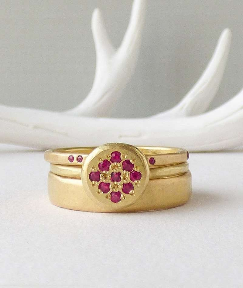 18kt Fairtrade Ruby Delphina Ring, Shakti Ellenwood