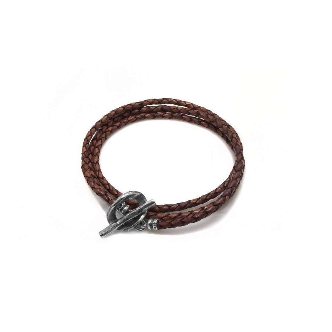 Burnt Umber Brown Leather Wrap Bracelet - Luke Goldsmith
