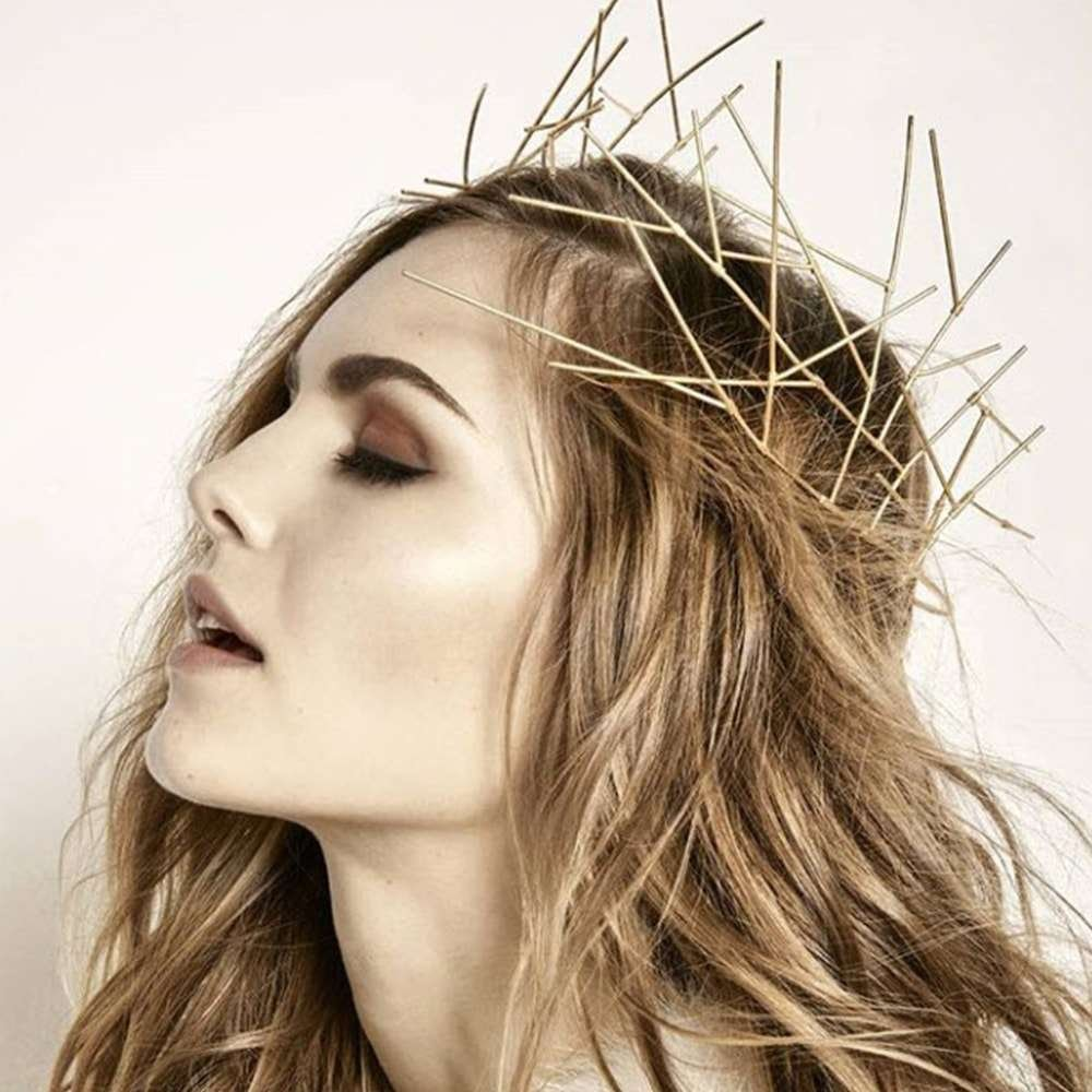 Small Brass Plated Silver Aerie Crown Tiara