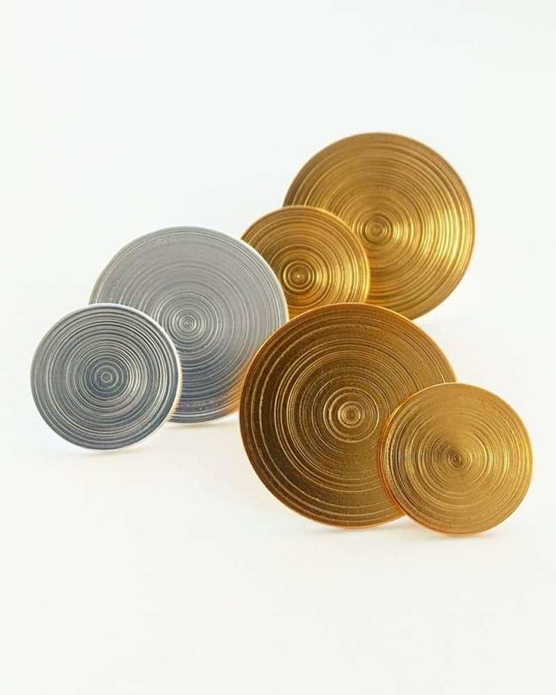 Gold Plated Silver Orbit Earrings, AKA Jewellery