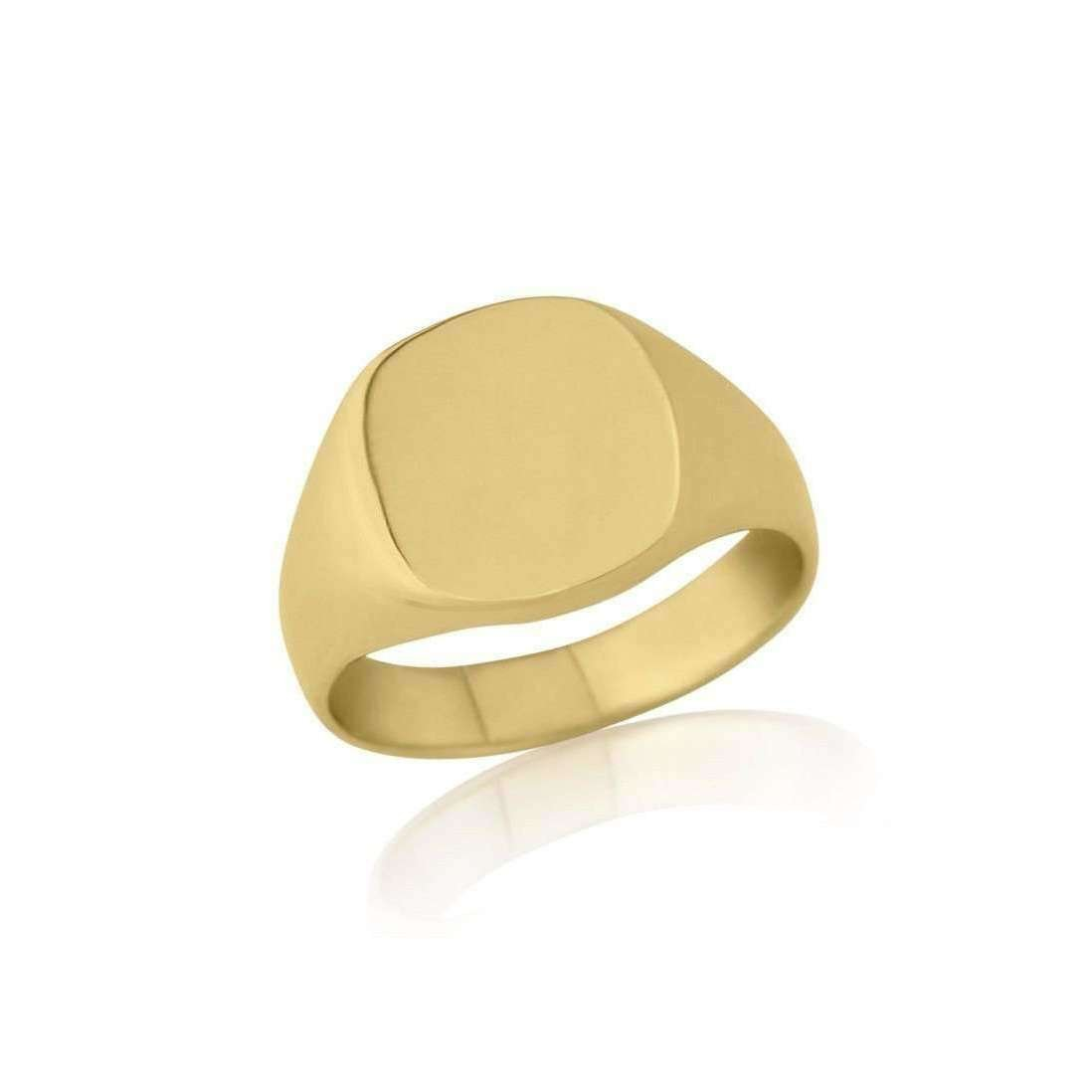 Cushion-shaped 9kt Yellow Gold Heavy Weight Signet Ring