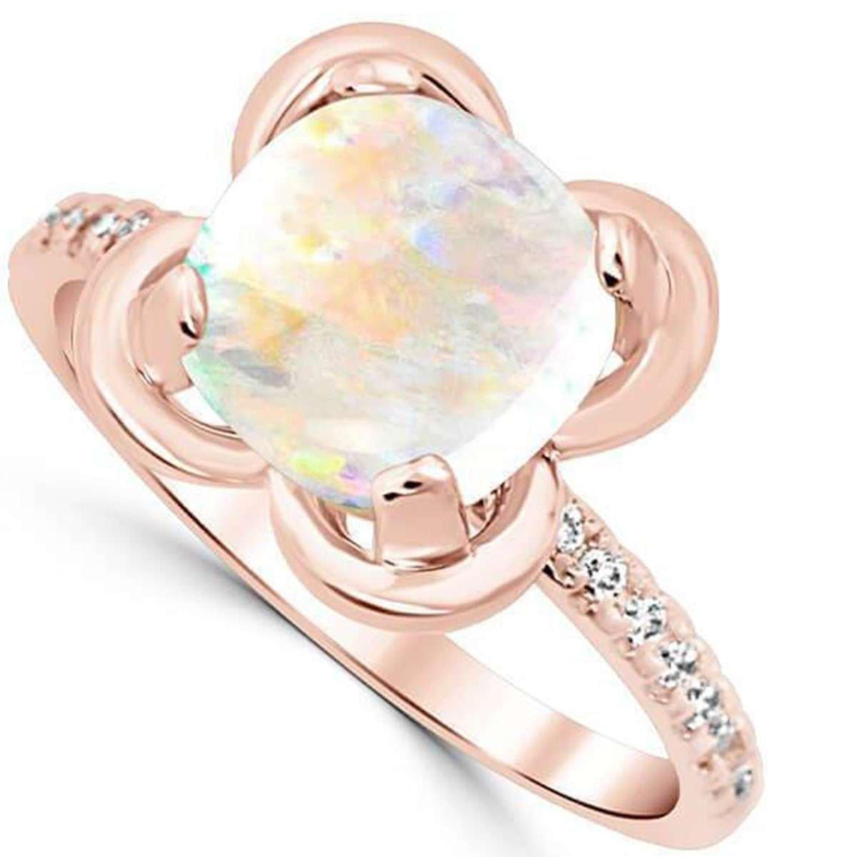 October birthstone - opal ring