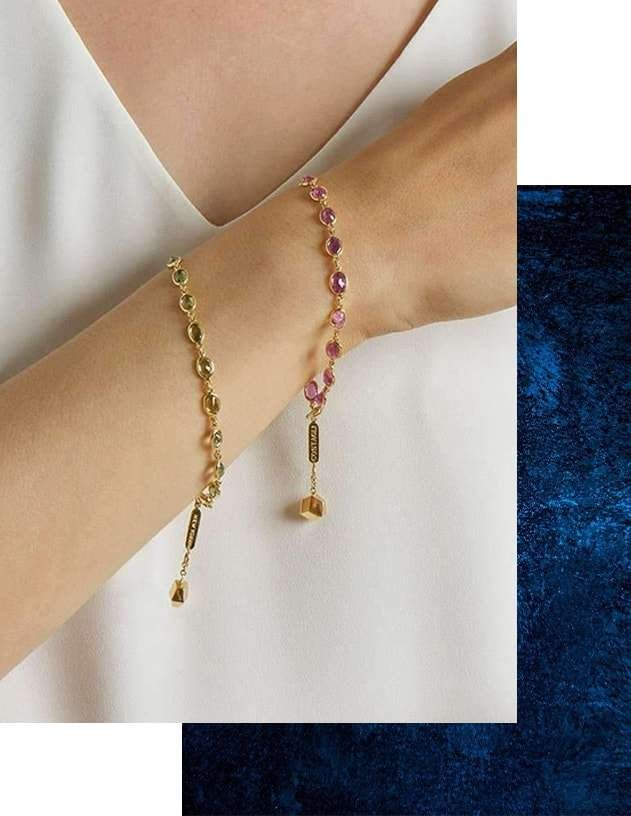Bezel Set Pink Sapphire Ombre Bracelet,  Paolo Costagli New York